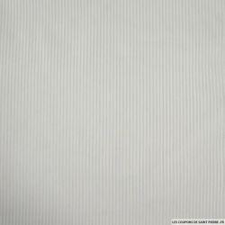 Voile polycoton rayé blanc