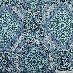 Maille maillot de bain imprimée dispersion turquoise