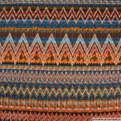 Maille maillot de bain imprimé bandes chevron multicolore
