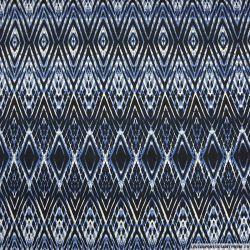 Maille maillot de bain imprimé losange bleu