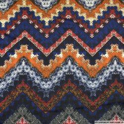 Jersey imprimé signal triangulaire multicolore