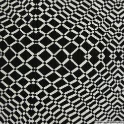 Plissé polyester imprimé arrivée noir et blanc