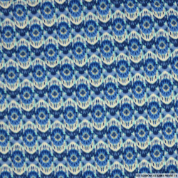 Jersey imprimé onde bleu