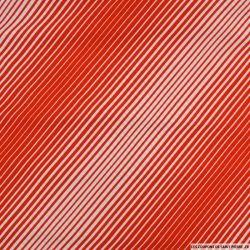 Jersey imprimé rayure en diagonale orange et blanc