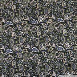 Maille Milano imprimé cachemire vert