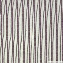Lin et coton double rayure  violet