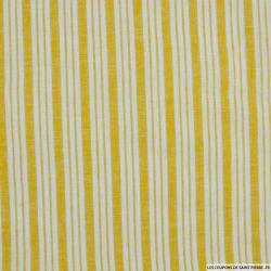 Lin, coton et lurex double rayure jaune
