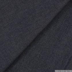 Chambray coton bleu foncé