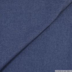 Chambray coton bleu