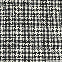 Tweed lurex polyviscose étoilé noir et ecru