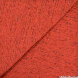 Jersey coton orange chiné