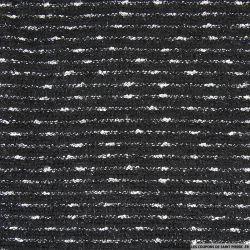 Maille comme tweed noir et blanc