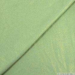 Crêpe irisée doré fond vert amande