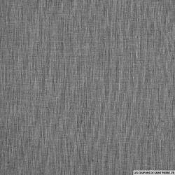 Voile de lin mélangé fine rayures noir et blanc