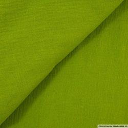 Double gaze vert mousse