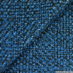Laine tricot bleu et noir