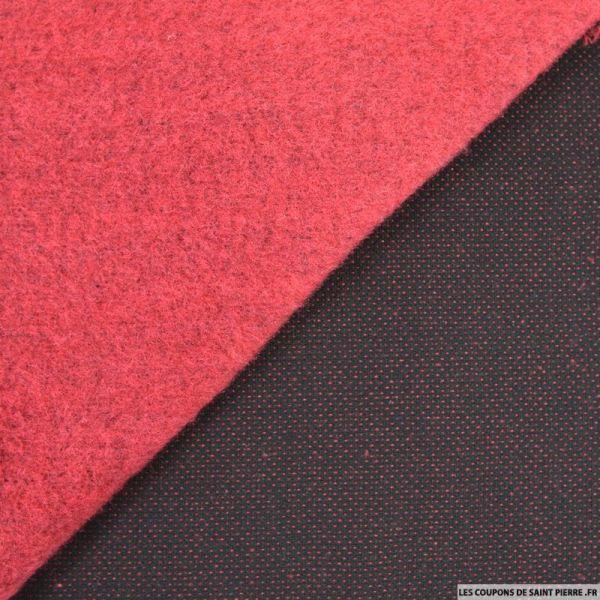 Laine tricot rouge et gris