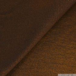 Crêpe polyviscose irisé cuivre