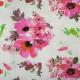 Maille structurée imprimées fleurs rose