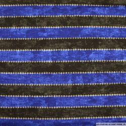 Jersey imprimé bandes noir et bleu