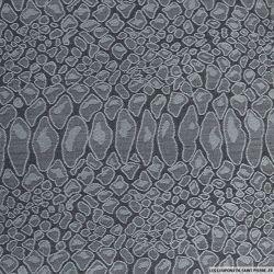 Jersey jacquard polyester sauvage gris et noir
