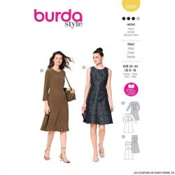 Patron Burda n°6099: Robe
