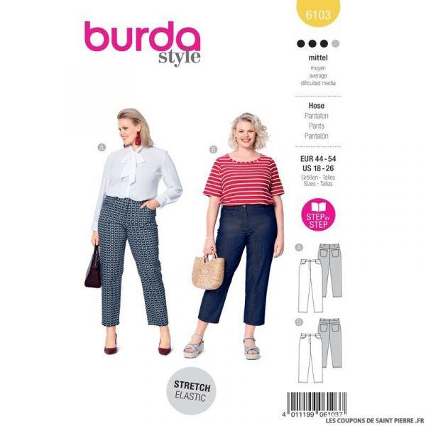 Patron Burda n°6103: Pantalon