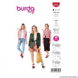 Patron Burda n°6123 : Veste