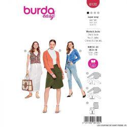 Patron Burda n°6120 : Gilet & Veste