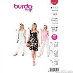 Patron Burda n°6121 : Haut & Robe