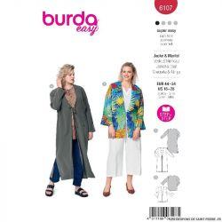 Patron Burda n°6107 : Veste & Manteau