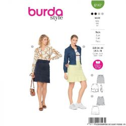 Patron Burda n°6147: Jupe