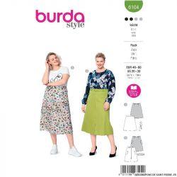Patron Burda n°6104 : Jupe