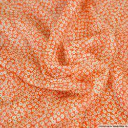 Satin dévoré lurex imprimé promenade mandarine
