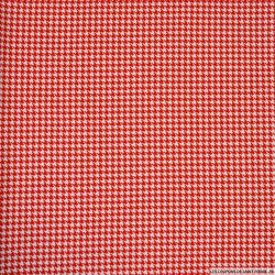 Jersey coton imprimé pied de poule rouge et blanc