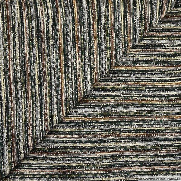 Maille effet tweed lurex vert