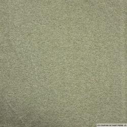 Jersey polycoton chiné minkee vert pâle