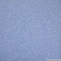 Jersey polycoton chiné minkee bleu