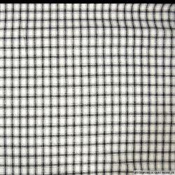 Jersey viscose imprimé carreaux noir et blanc