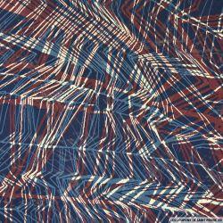 Mousseline imprimée tirait un trait fond marine