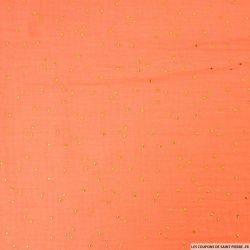 Double gaze papaye pois dorés