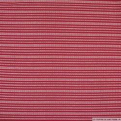 Jersey imprimé rayé de petits pois fond rouge