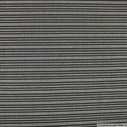 Jersey imprimé rayé de petits pois fond noir