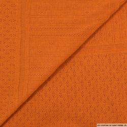 Maille tricot ajourée citrouille
