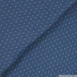 Jean's coton fin imprimé pampille bleu