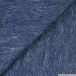 Chambray polycoton tie and dye jean's foncé
