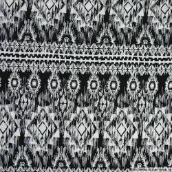 Maille maillot de bain imprimée ethnique noir et blanc