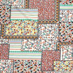 Maille maillot de bain imprimée patchwork fleuri