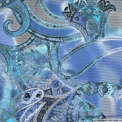Maille maillot de bain imprimée futuriste bleu