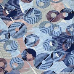 Maille maillot de bain floqué imprimée cercles troués